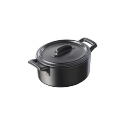 Revol Belle Cuisine Cocotte With Lid Black 25cl