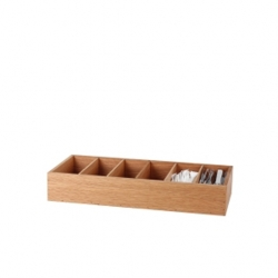 6 Compartment Cutlery Box Wooden Cedar Wood