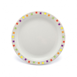 Harfield Duo Plate Narrow Rim Abstract Multi 23cm Poly