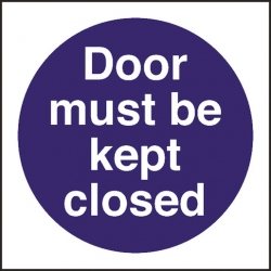 Kitchen Food Safety Door Must Be Kept Closed (Sold Singly)