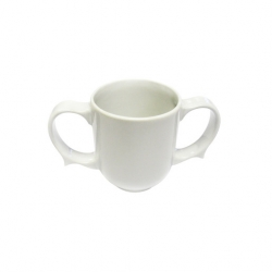 Wade Dignity 2 Handled Mug White Ceramic 25cl