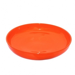 Colourful Terracotta Shallow Rnd 28cm Bowl Tangerine (4 pcs)