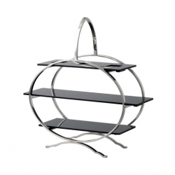 Artis Cake Stand S/Steel With Three Acrylic Plates