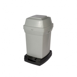 Rubbermaid Pedal Operated Nappy Bin 62 ltr Grey
