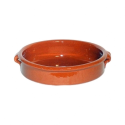 ABS Pottery Emilio Terracotta Round Dish 23cm Brown