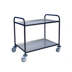 EAIS Trolley With Aluminium Trays 2 Tier