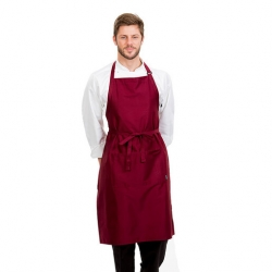 Brigade Adjustable Neck Bib Apron Merlot
