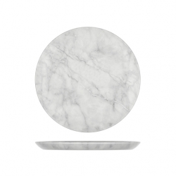 10 Inch White Marble Effect Plate Dia 285mm