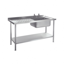 CED Fabrications S/S Sink Single Bowl L/H Drainer 1200mm