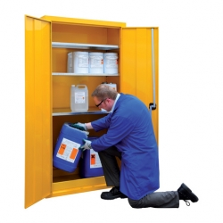 Hazardous Storage Cupboard 2 Door & 3 Shelves