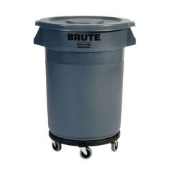 Rubbermaid Round Grey Waste Container 76Ltr