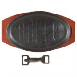 Sizzle Platter Black Cast Iron Oval 28 x 21cm (Sold Singly)