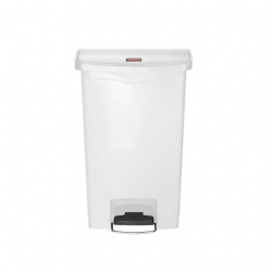 Slim Step-On Bin Front Step 50 ltr White (Sold Singly)