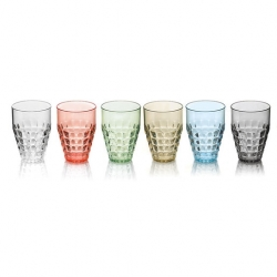 Guzzini Tiffany Set Of 6 Tall Tumbler 510ml Assorted Colours