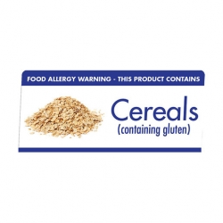 Mileta Allergen Buffet Notice Cereals Contain Gluton