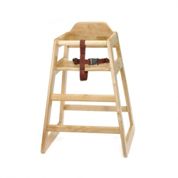 High Chair Self Assembly Natural 20x19x26.75 inch