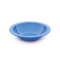 Bowl Narrow Rim Blue 17cm Antibacterial Poly (Sold Singly)
