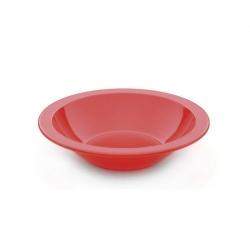 Bowl Narrow Rim Red 17cm Antibacterial Poly (Sold Singly)