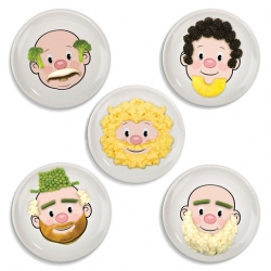 Food Face Dinner Plate (Sold Singly)
