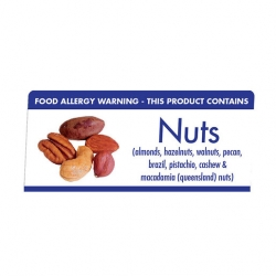 Allergen Buffet Notice Nuts