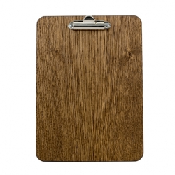 A5 Wooden Clip Board 17 5 x240 4mm Dark Oak (Sold Singly)