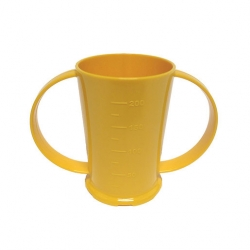 2 Handled Beaker Polycarb 26cl Yellow (Sold Singly)