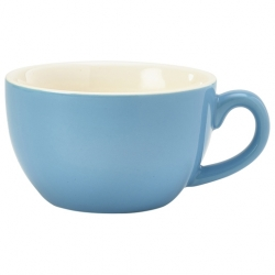 Royal Genware Bowl Shaped Cup17.5cl 6oz Blue