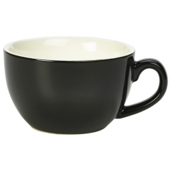 Royal Genware Bowl Shaped Cup17.5cl 6oz Black
