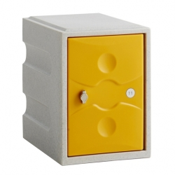 Link 51 1 Door Plastic Locker Grey with Yellow Door