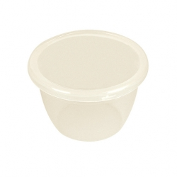 Pudding Basin Polypropylene 50cl 12cm With Lid (Sold Singly)
