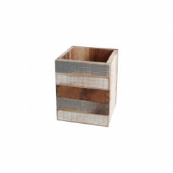 Drift Wood Utensil Box Grey And White Acacia