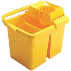 Mop Bucket & Wringer Yellow 15ltr (Sold Singly)