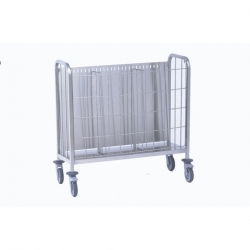 Tournus Equipement Plates Trolley with Removable Front Grill