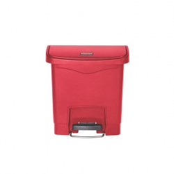 Slim Step-On Bin Front Step 15 ltr Red (Sold Singly)