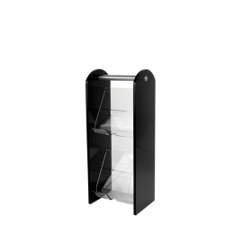 2 Tier Condiment Stand Acrylic Black (Sold Singly)