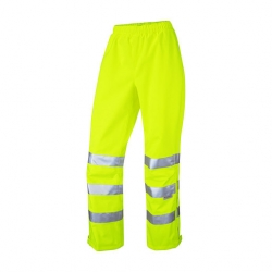 Leo Workwear Hannaford Ladies Hi-Vis Over Trousers Yellow