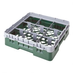 Cambro Camrack Glass Rack 9 Compartments Green (Sold Singly)