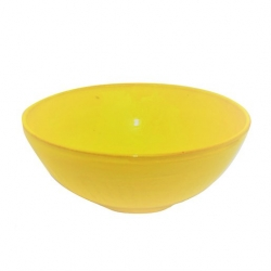 Colourful Terracotta Deep Round 19cm Bowl Yellow (6 pcs)