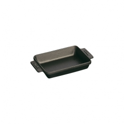 Baking Dish Black Cast Iron Oblong 15 x 11cm 25cl (Sold Singly)