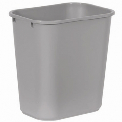 Rubbermaid Deskside Recycling Waste Bin Black 26.6ltr