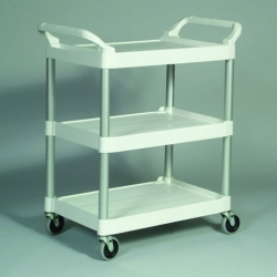 Rubbermaid Trolley 3 Tier White Frame (Sold Singly)