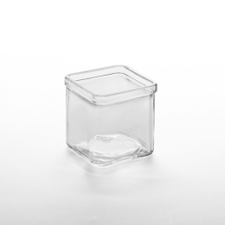 American Metalcraft Square Glass Jar 8oz