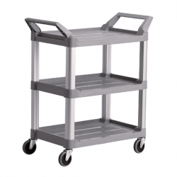Trust 3 Tier Utility Trolley Platinum (Sold Singly)