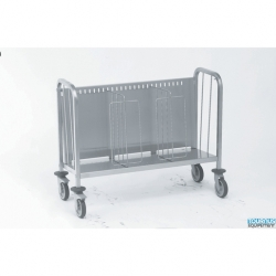 Tournus Equipement Plates Trolley with Secure Stacking Partitions