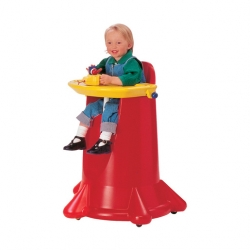 Add Gards Kiddi Cone High Chair Stackable Red Poly