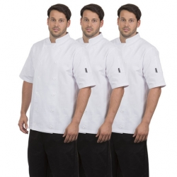 Brigade Chef Clothing Chefs Jacket White Triple Pack - Short Sleeve