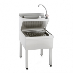 Tournus Equipement Janitor Sink with Hand Wash Basin 500x700x890mm