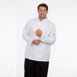 Brigade Chef Clothing Men's Long Sleeve Chefs Jacket White