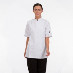 Brigade Chef Clothing Ladies Short Sleeve Chefs Jacket White