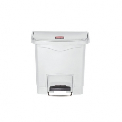 Slim Step-On Bin Front Step 15 ltr White (Sold Singly)
